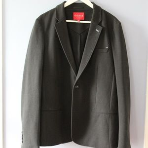 Men's BLACK Trystan Ponte Blazer by Guess